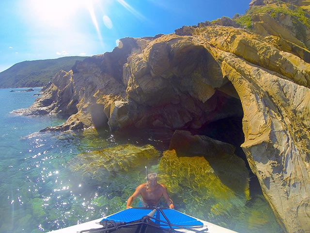 Alex Ander: discovered new caves on the island of elba - Italy