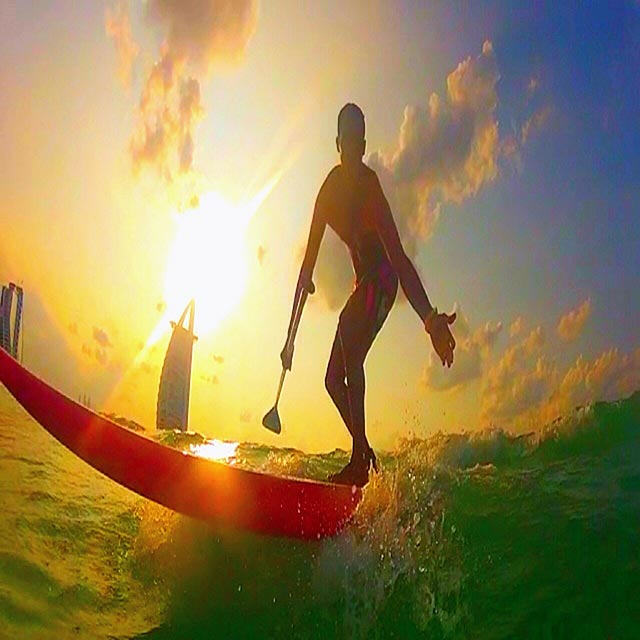 Amer Dandachli: Surf session at Burj Al Arab hotel-Dubai