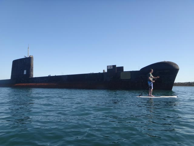 Billy Graham: HMAS Otama submarine is certainly added excitement to sup trip. Hasting,Australia