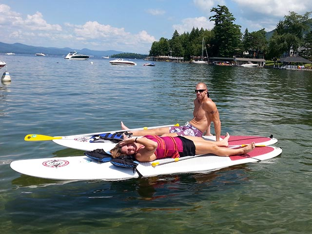 Brian Perry: Me and the wife relaxing on Lake George NY. July 2014.