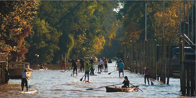 "Carlos Alonso: ""Tigre Sup Experience"" - August 2014 - Tigre, Buenos Aires, Argentina. Riders from different points of the country gathered in the city of Tigre for the annual ""Tigre Sup Experience"" paddling along rivers and streams of the Delta del Tigre."