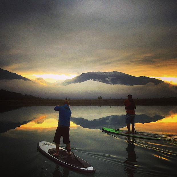 Chad Guenter: Every Monday morning i event people to join me for a sunrise paddle. Why? Cuz i hate Monday mornings that's why! Now they're sweet. Coffee, friends and sup! #soulflowpaddleco
