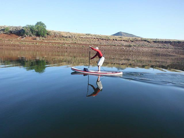 Park City SUP Trent Hickman: Mike gets some glass on a dawn patrol tour/lesson with Park City SUP.