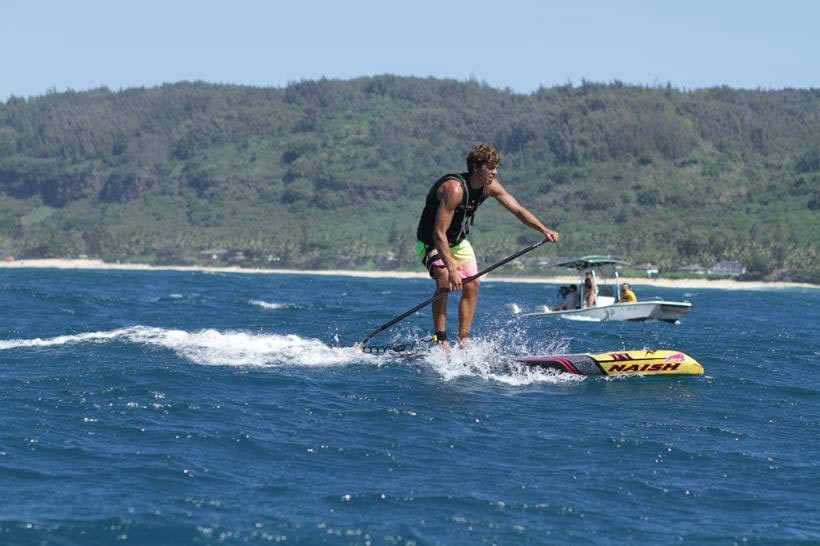 Kai Lenny is victorious on Day 1 of the World Series Finals at Turtle Bay