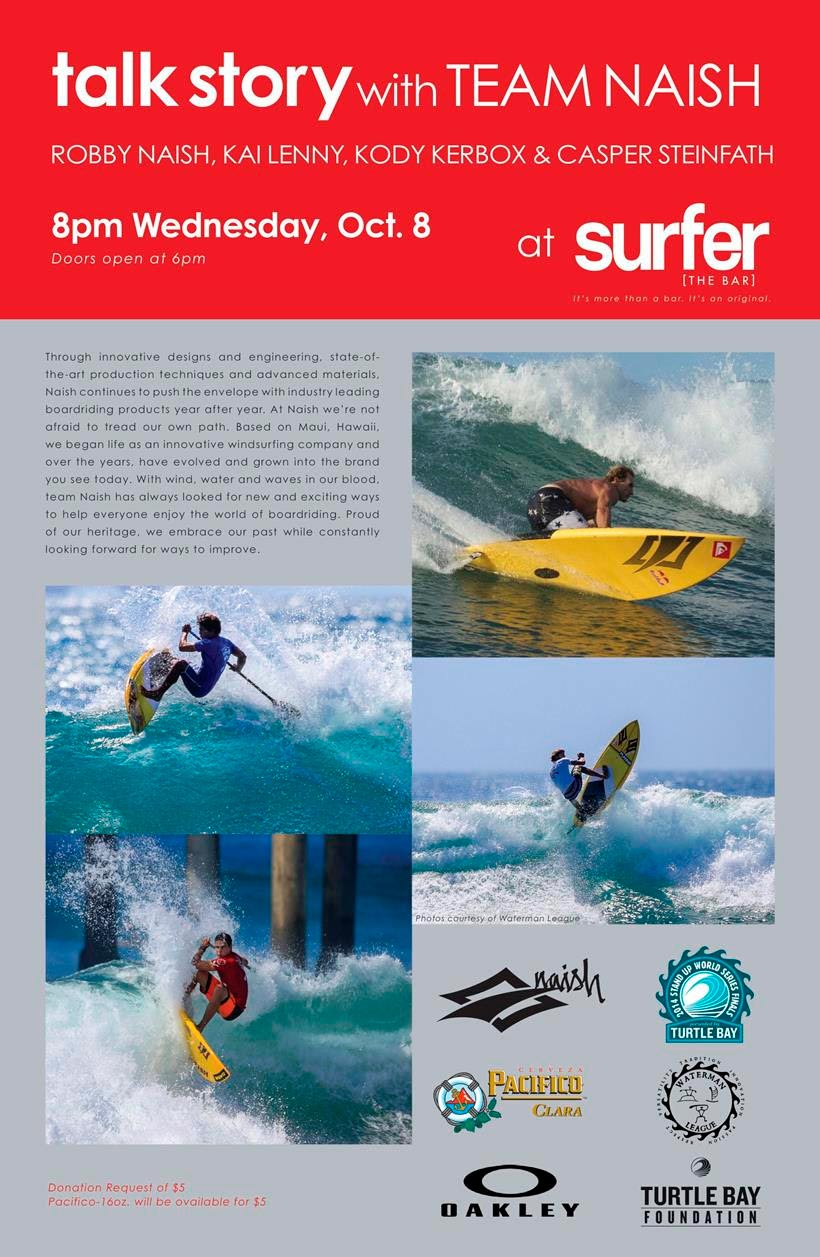 Meet Team Naish for a Talk Story Special at Surfer the Bar LIVE