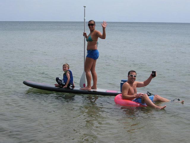 Brooke Brandstatter 1: Family SUP photo during 4th of July, on one of the GREAT lakes of Michigan!!