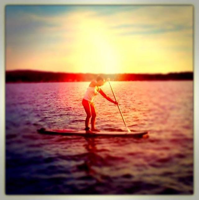 Brooke Brandstatter: SUPing on Silver lake to the Sand dunes in Michigan!
