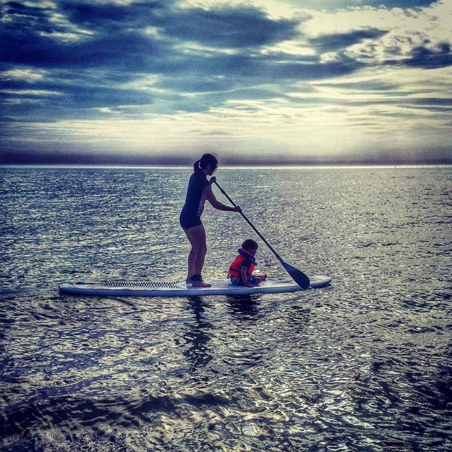 Danielle Bonics: My little boy and I exploring the great open sea