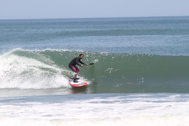 Emilio Castro: OBX, NC, June 2014, East Coast.  I have had good days this 2014!! I am an all year round standup paddler who goes to surf when good conditions heat the coast(usually takes me 6 to 10 hrs. driving). Is that passion, obsession, addiction or Religion??
