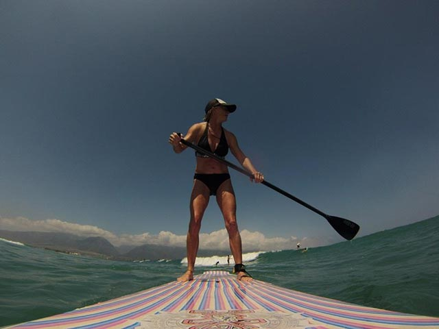 Kathie Mercier: North Shore Maui paddle surfing is the best in the fall/winter months. I love getting out on my board and the north shore is more of a challenge than the south shore. The waves have much more power behind them. I stay on the smaller waves as those big ones scare me a bit yet! It's the best core workout I know of and tons of fun!!