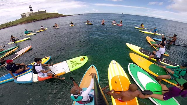 Orlando Costa: Rowing Lighthouse at Barra beach...This is a group that have stand up paddling in Salvador Brazil for a long time.