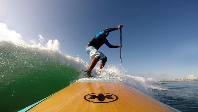 Orlando Costa: Living on a surfboard SUP in a beautiful place called Itapua, Brazil.