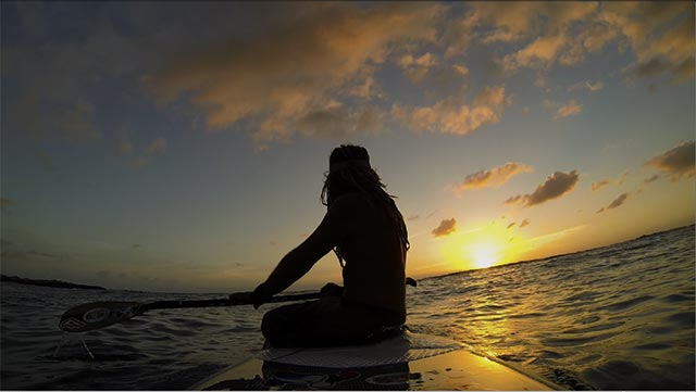 Russell Groves: When you have a sunrise like this you just have to sit down and take it in! This is only a frame grab as I am mostly working on videos nowadays. My other passions are photography and standup paddling. At sunrise there is always inner conflict to either paddle or take photos. If I could do both I would live in paradise!