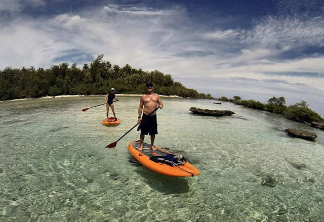 Scott Mercier: Had great fun stand up paddling in French Polynesia on my honeymoon!
