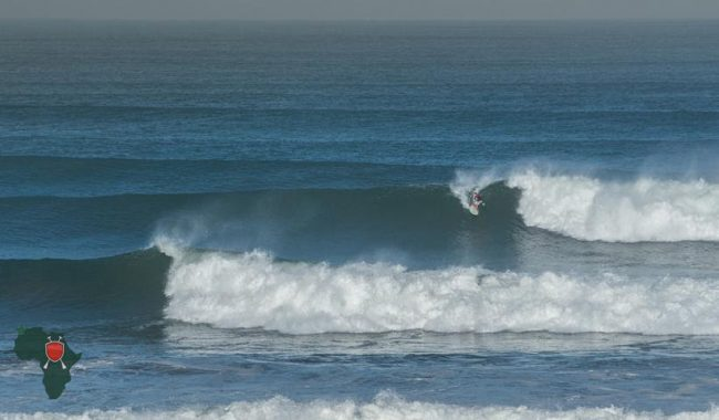 Sean Poynter excels in the full size surf to post two solid scores and advance to semis