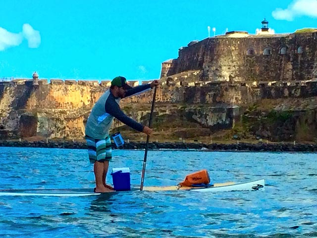 """Ulises Montero: Cruising during a beautiful day in Puerto Rico! we finally get to pass near the Fort built by the Spanish in the 16th century called """"El Castillo de San Felipe del Morro"""". It was a mixed feelings adventure caused by the beautiful view and the history behind this massive structure!"""