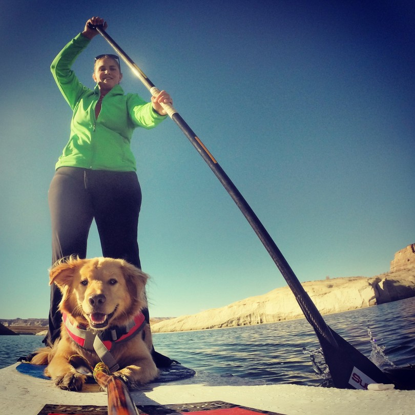 Kim sup dog lake powell