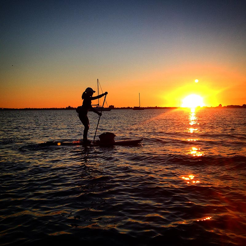 Nothing like a sunset paddle to end a hectic work week.