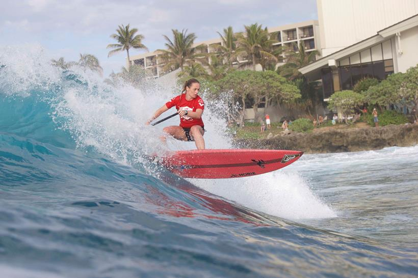 Caroline Angibaud claims victory at stop 1 of the Stand up World Tour in Hawaii
