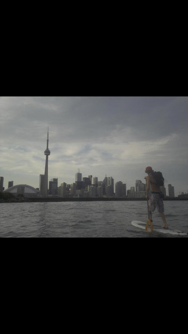 Chadwick Holmes: Coming back to Toronto after a tour around Toronto Island in Lake Ontario.