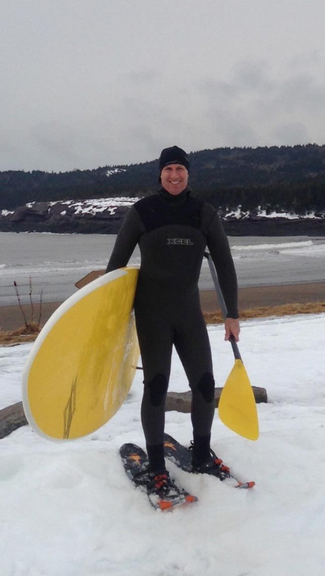 Dave L. Johnson: First surf day of the spring, gotta love Eastern Canada!
