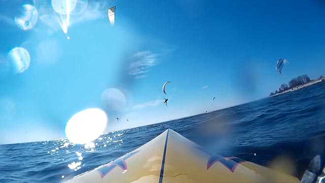 Dirk Utecht: A perfect day between many kiters with my Naish Javelin on the water. Location Pelzerhaken, Germany