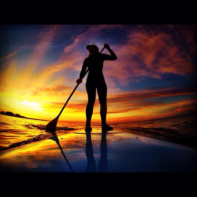 Emily Critcher: Beautiful sunset sup session.