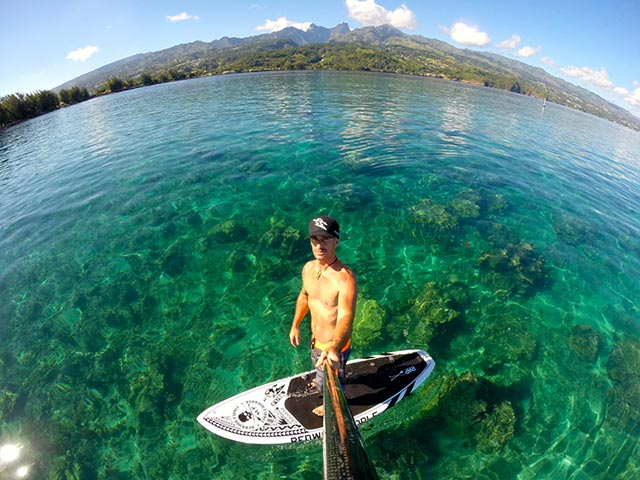 Jean Lucchini: Morning SUP cruize in Tahiti by Jean Lucchini