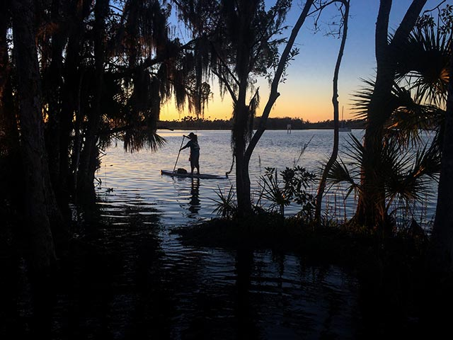 Jeremiah Vermont Sup Johnson: Florida sunset paddle to the hidden springs.