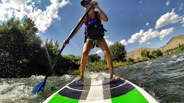 Justine Bryant: SUP session on the Wenatchee River in Washington State.