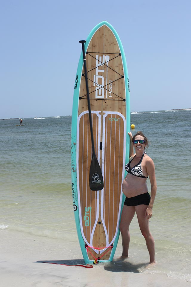 Lauren Starcevich: 8 Months Preggo on Race Day at Ponce De Leon Inlet, FL...I continued to paddle up until I was 9 months and 1 week :o)
