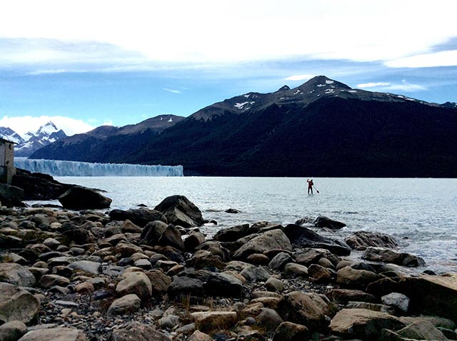 Mark Kalch: SUP near the Perito Moreno Glacier, Patagonia.
