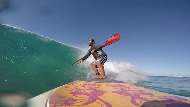 Mike Barad: SUP at Swabby's Oahu