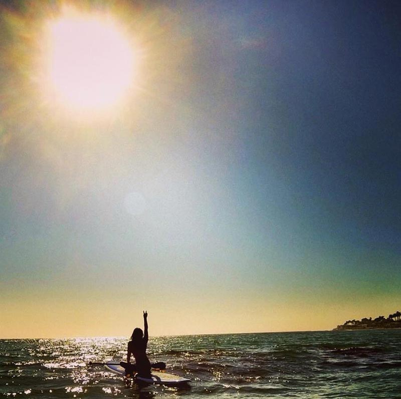 Janice Gardner: Just a girl, her paddleboard, sunshine, and the open ocean.