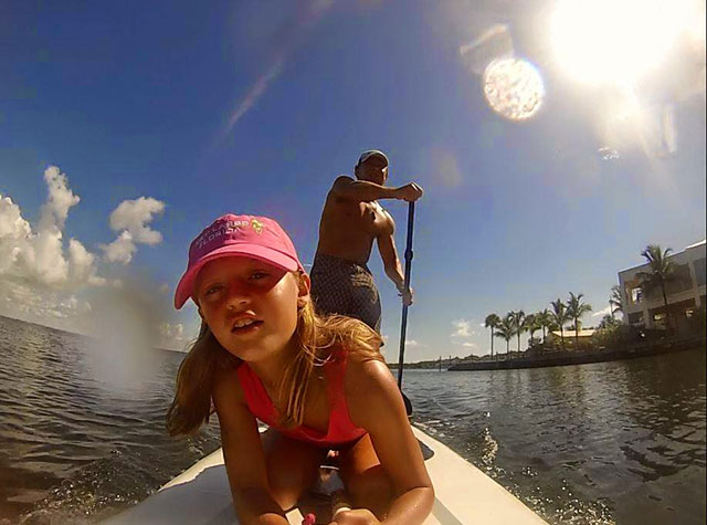 Matt MacClellan: Key Largo slow-down paddle after a week of kite boarding and surfing.