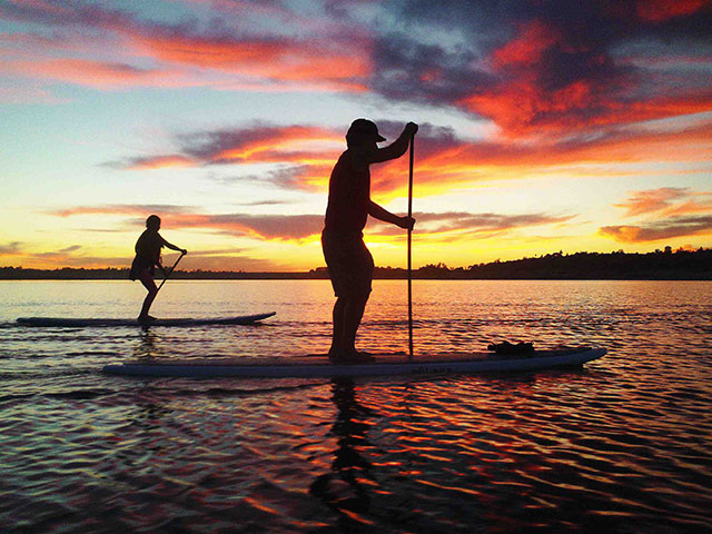 Nick Carlson: Sunset on Folsom Lake.