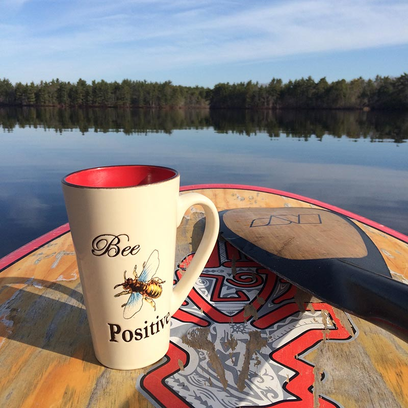Rhonda Bernatonis: Spring at last and with a glassy morning such as this you just can't help but to Bee Positive on your SUP