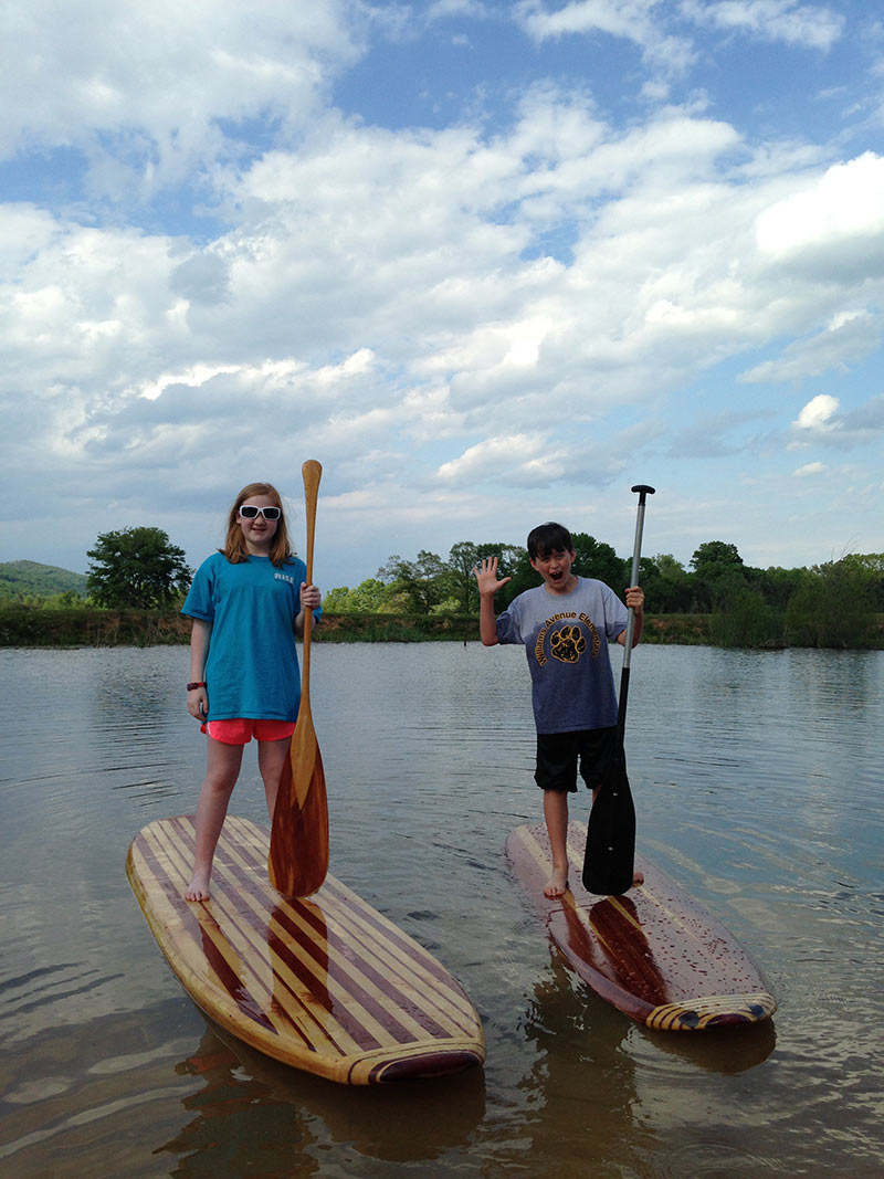 Casey Stott: Amelia Stott & Nicholas freeman...Loving my sup board, we built them out of cedar and pine. We are from Alabama and love adventure.