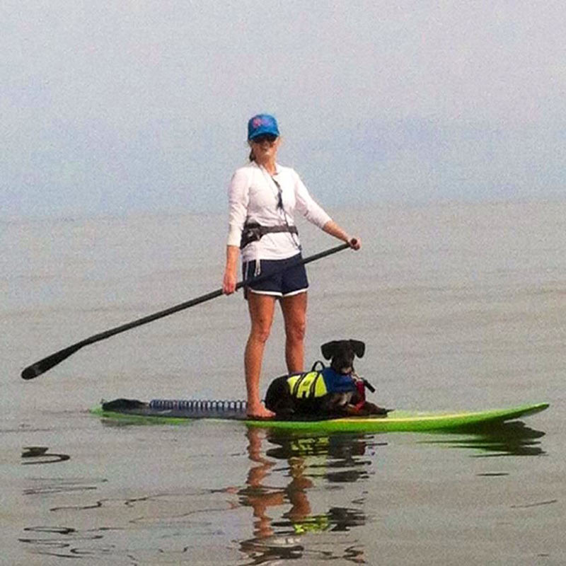 Claire Ream: St. Simons Island native Claire Ream and her dog, Twiga, in route to their first tandem surf session.