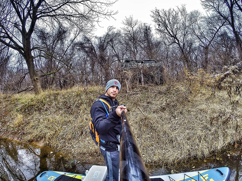 "Eric Pappas Sweet! ""I heard this place gives out free hugs"". Exploring the North Canadian River in Oklahoma during winter."