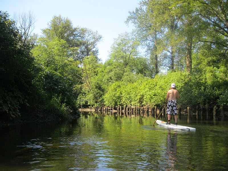 Robert Merk: Paddling on the Coquitlam river , Coquitlam BC Canada
