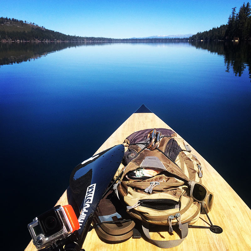 Ryan Wenker: Another epic early morning paddle upon Fallen Leaf Lake, Lake Tahoe, California.