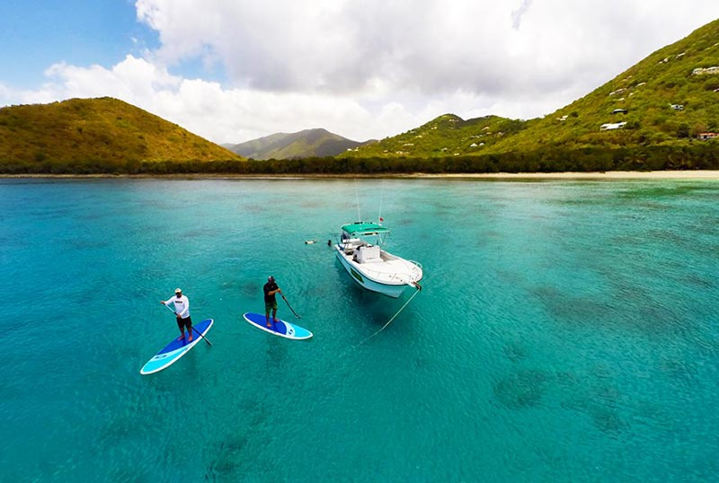 Scott Hustins: We are so blessed to be able to paddle the crystal clear waters of Tortola in the British Virgin Islands!