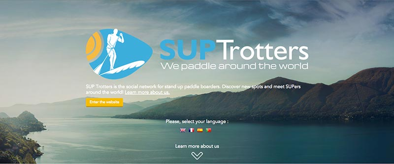 Sup Trotters Social Network for Standup Paddlers