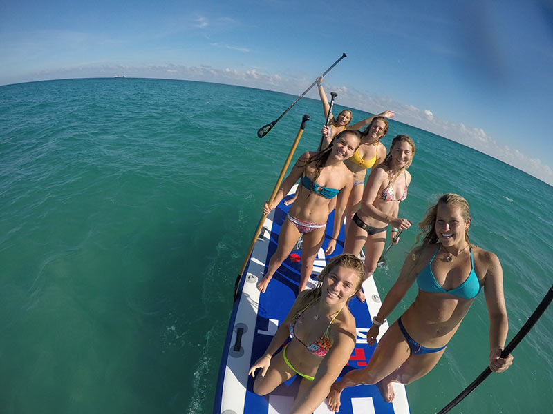 Sierra Groth: Sierra Groth, Sydney Groth, Holly Hanson, Krista Metzger, Shelby Pearce, Izzy Gomez.  Before the epic nose dives, broken gopro, and black eye... Totally worth it.