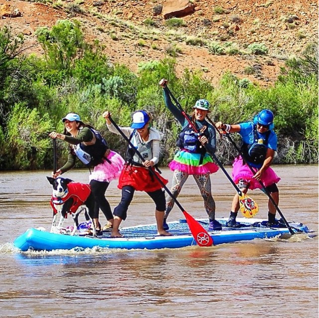 @acapaddlesports Just a little #SUPspiration for your Sunday. Make it a good one. (Also, tutus go really well with PFDs, as evidenced by this photo.) Thanks for the snap @shaboomee #acapaddlesports#paddlesafe #paddleoften