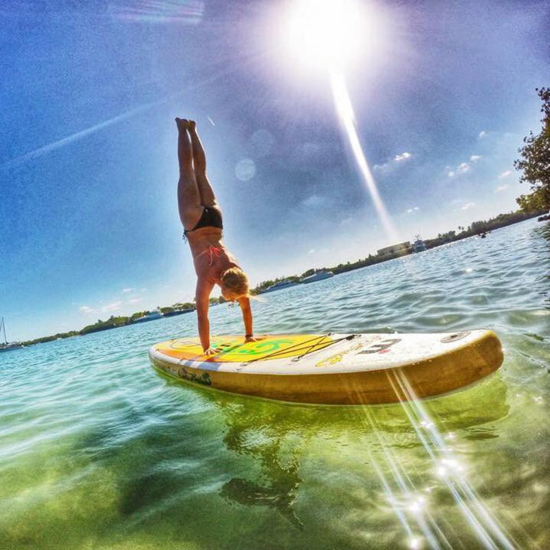Jill Hodder: SUPYO Boston's Jillian Hodder nailing her first SUP handstand in the gorgeous Oleta State Park, Miami FL!