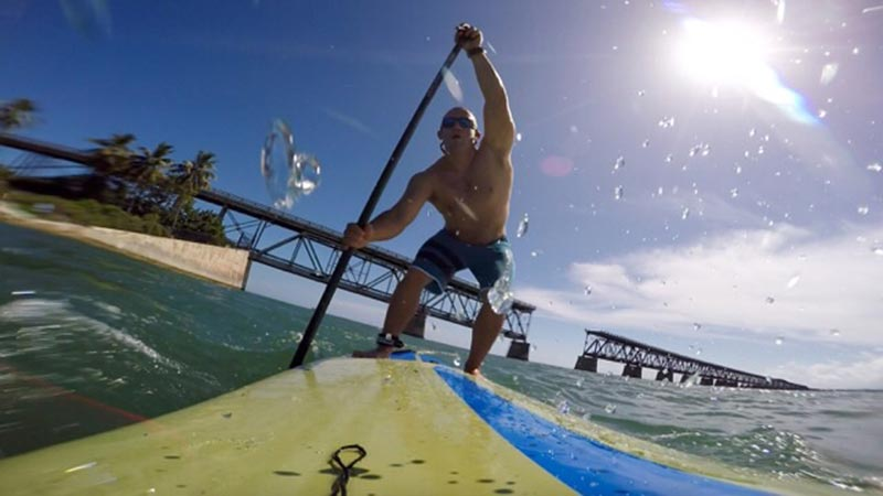 Matt Anderson: Paddling an endless bridge in the Florida Keys.