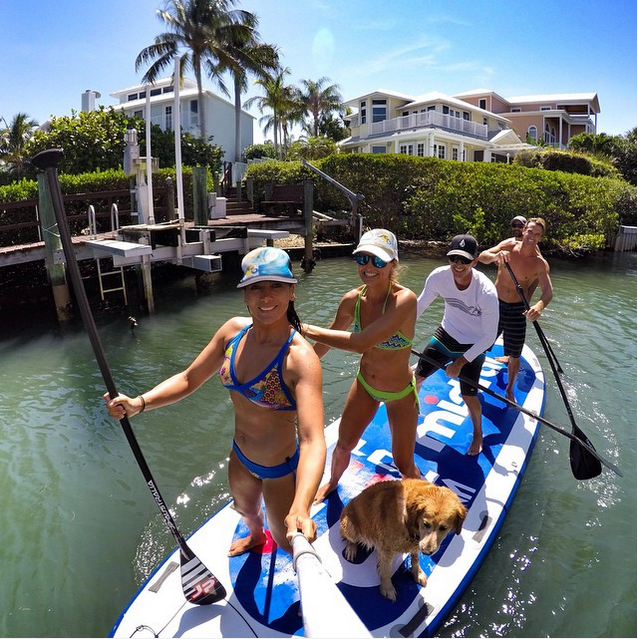 @alexwaterchica #friends #waterlust #goodtimes #paddleboarding #hero4 #standuppaddle #sup #gopro #partywave