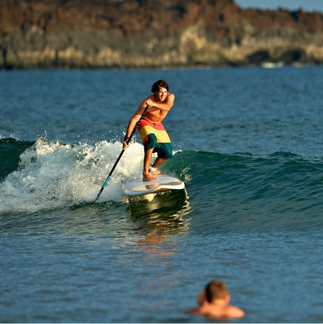 @slingshotsup Even a Tiny point break is fun on a SUP! #standupsurf #standuppaddle